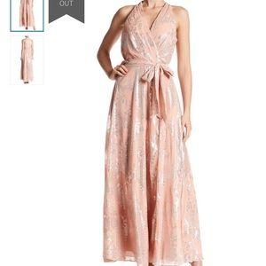 NWT Chetta B Metallic Maxi Dress 14
